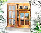 Window made of FSC timber.
