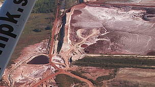 WWF aerial photos show that the extent of the disaster is still evident today. 