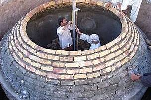Construction of household biogas digester