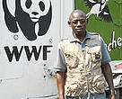 David Mapendano, logistician for WWF in Goma, DRC. David has been committed to conservation since he was a teenager. 