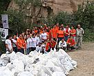 The AGBU-WWF clean-up initiative lays the foundation for developing environmental ethics among young people. Tatev Monastery, Armenia.