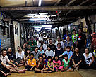 Group photo for the network meeting in Nanga Delok longhouse with the headman and the local community. Sarawak, Malaysian Borneo