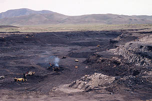 Coal mine at Turgen Mountains, Mongolia