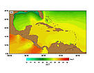 SST (Sea Surface Temperatures) - February. / &copy;: http://www.rsmas.miami.edu