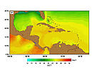 SST (Sea Surface Temperatures) - January. / &copy;: http://www.rsmas.miami.edu