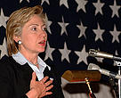 Senator Hillary Clinton is backing EU efforts to ensure the safety of chemicals in everyday use.