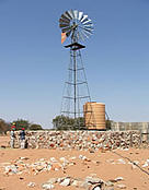 Successful protection wall against elephant at a water point in #Khoadi //hoas Conservancy, Kunene ... / ©: Olga Jones