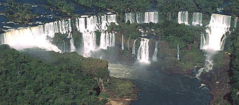 Iguau National Park - Iguau falls, Atlantic rainforest, Paran, Brazil. rel=