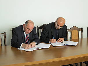 WWF-Armenia Director (on the left) and