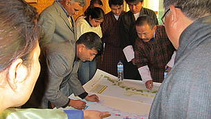 Participants during a group work session