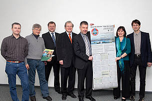 WWF and BUND hand over 100,000 signatures to ICPDR President  Mitja Bricelj in Vienna today.