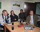  US Ambassador to Nepal, H.E. Mr James F. Moriarty(left) being briefed on rhino conservation and the illegal wildlife trade in Nepal during a visit to the Terai Arc Landscape-Nepal office in Sauraha, Chitwan