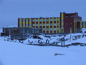 The school in Ryrkaypiy overlooks a haul out of 40,000 walrus. / ©: Tom Arnbom