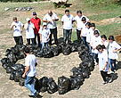 Collected Garbage by Schoolchildren
