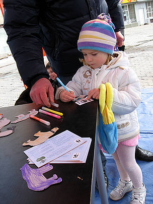 Raising awareness of climate change from a very young age at the Climate Tour in Ukraine  / ©: WWF DCP Katya Kurakina