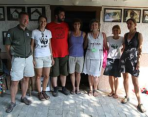 Mimi Hughes with friends from WWF and the organizers of Bodrog Fest, 2013.