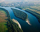 The Danube at Belene, Bulgaria. 