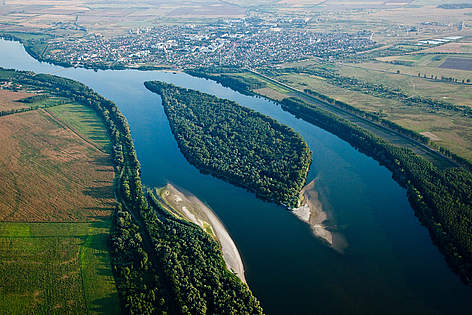 The Lower Danube at Belene, Bulgaria.  rel=