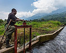 Newly installed Congolese Conservation Authority hydro-electric plant in its finishing stages at Mutsora, in the 'Block V' area of Virunga National Park, Democratic Republic of Congo.