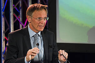 EU Commissioner for the environment Janez Potocnik at the award ceremony in Vienna.