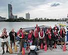 Some of the scientists taking part in the third Joint Danube Survey.