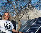Jennifer Morgan shows off the benefits of renewable energy