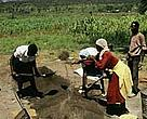 WWF promotes sustainable ways to store water, such as this water catchment cistern being built near Lake Nakuru, Kenya.