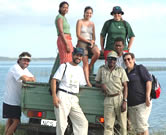 WWF personnel, pictured here on the shores of the Kosi Lakes, recently visited the KZN Turtle ... / &copy;: WWF-Canon / Richard McLellan