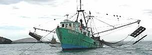 Shrimp fishing boat, Gulf of California, Mexico. / ©: WWF-Canon / Gustavo YBARRA