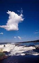 Iguau falls from Argentina Atlantic Rainforest, Argentina. / &copy;: WWF-Canon / Michel GUNTHER