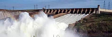 Itaipu dam - The biggest dam in the world, located on the Paran� River between Brazil and Paraguay, ... rel=