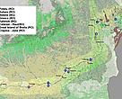 Proposed key areas for ecological restoration on the Lower Danube