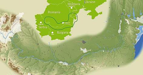 Lower Danube Green Corridor map. rel=