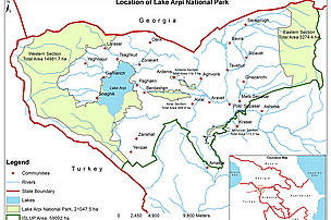 Location of Lake Arpi NP