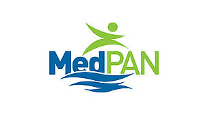 Logo of MedPAN - The network of managers of Marine Protected Areas in the Mediterranean / ©: MedPAN