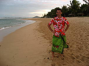 Julien Chupin on a beach in Madagascar. WWF Volunteer. 2006. / ©: Lucia Canedo Pouso