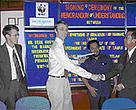 Signing ceremony: Mr Derk Kuiper, WWF-Netherlands Freshwater Manager exchanging a handshake with IR Ho Jin Wah, Director of DID. 