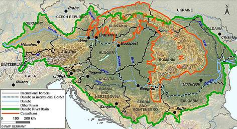 The danube river basin and carpathian mountains are globally important