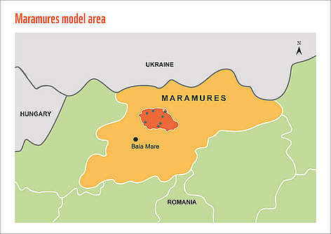 Map of Maramures PES project pilot site. rel=