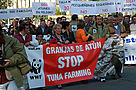 WWF and Spanish artisanal tuna fishers join in a demonstration asking the International Commission ... / &copy;: WWF/Carlos G. Vallecillo