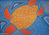 Marine turtles play an important role in Australian Aboriginal culture, and are reflected in both ... / &copy;: Karen Puruntatameri