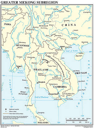 Countries of the Greater Mekong Region / &copy;: UN Department of Peacekeeping Operations Cartographic Section