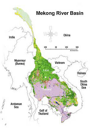 The Mekong River Basin. / &copy;: WWF Greater Mekong