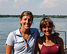 Mimi Hughes and daughter Kelsey, here one-person crew, shortly after arriving in Bulgaria