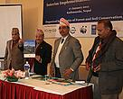 Minister for Forest and Soil Conservation Deepak Bohara launching the SHLIIP.