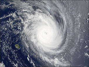 Tropical Storm Guillaume in the southwestern Indian Ocean close to Mauritius and Madagascar. Waves ... / ©: MODIS Land Rapid Response Team at NASA GSFC