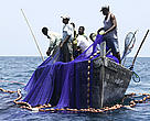 Fishermen pulling up nets, Mafia Island, Tanzania