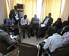 Representatives from oil companies and the DRC government meet with civil society leaders and NGOs.