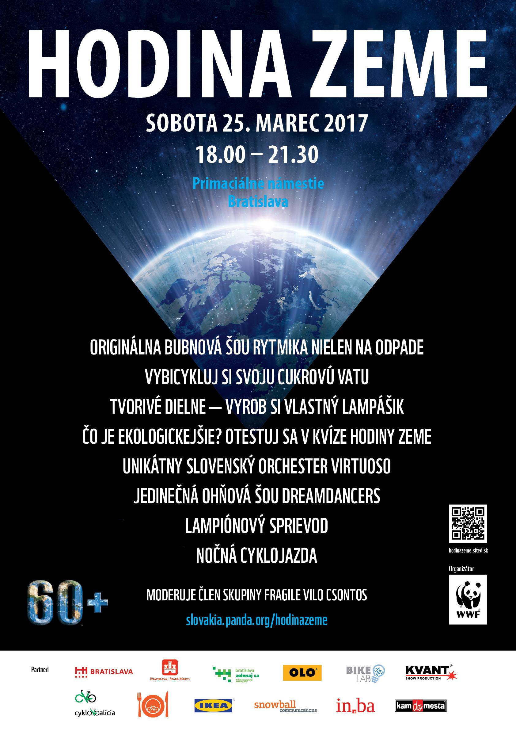 Program Hodiny Zeme 2017 v Bratislave