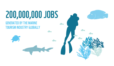 200 million jobs generated by the marine tourism industry globally